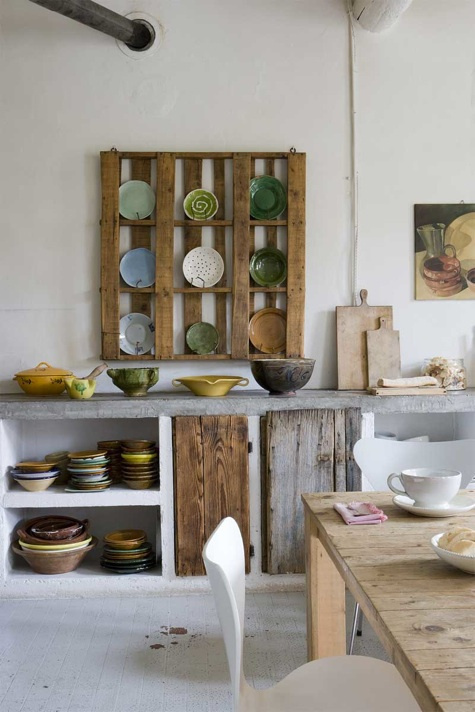 pallet_plate_rack #wood #kitchen