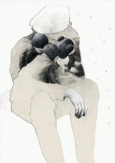 Illustrations by Simon Prades | 123 Inspiration #graphite