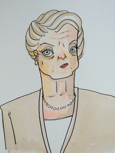 People I Know: Angela Lansbury Week 2011 - Day Four #illustration #watercolor