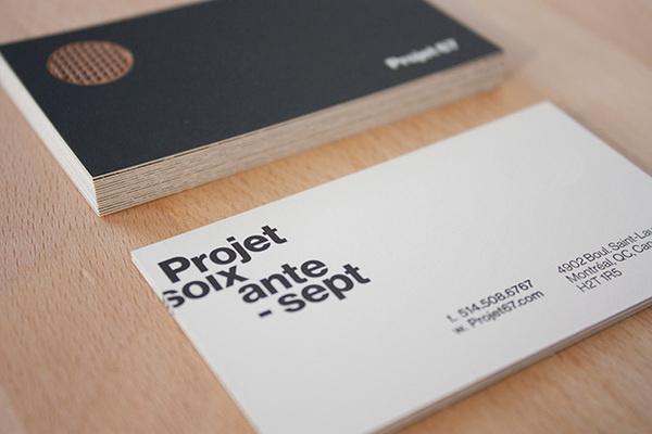 Projet 67 #business #branding #print #stationery #cards