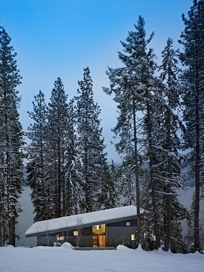 nl_190611_02 » CONTEMPORIST #modern #design #snow #architecture #cabin #forest