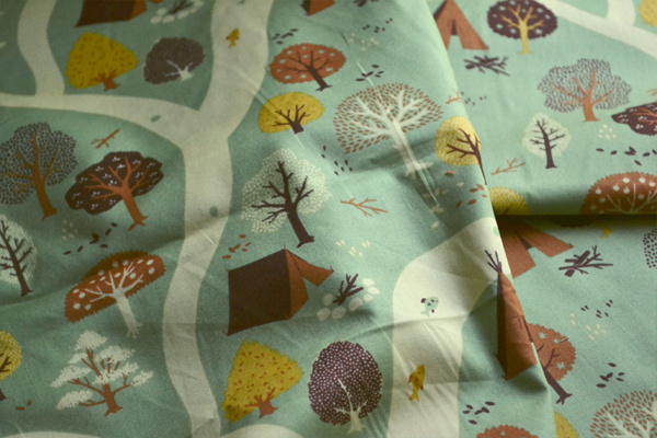 Fort Firefly Fabric Collection on Behance #wild #pattern #camping #nature #cute