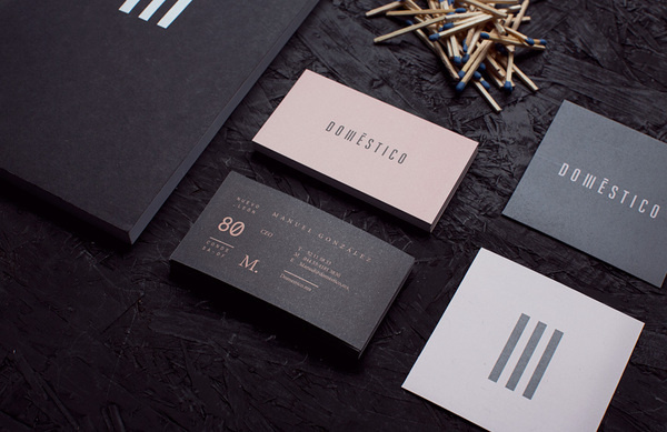 Doméstico   Manifiesto Futura #print #branding #stationery