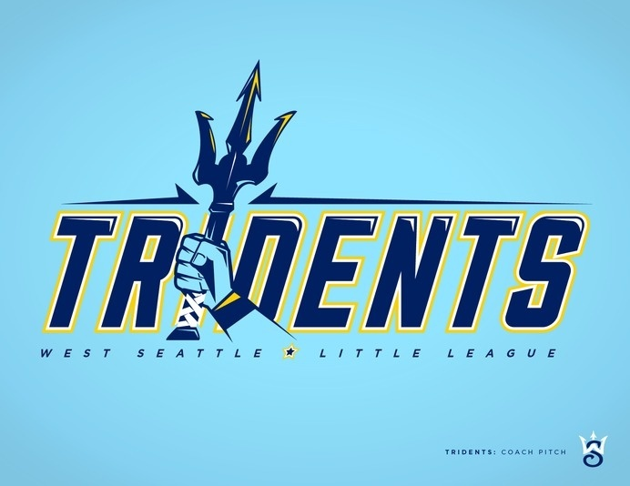 West Seattle Little League - danlustig.com #vector #seattle #tridents #sports #baseball #logo #typography