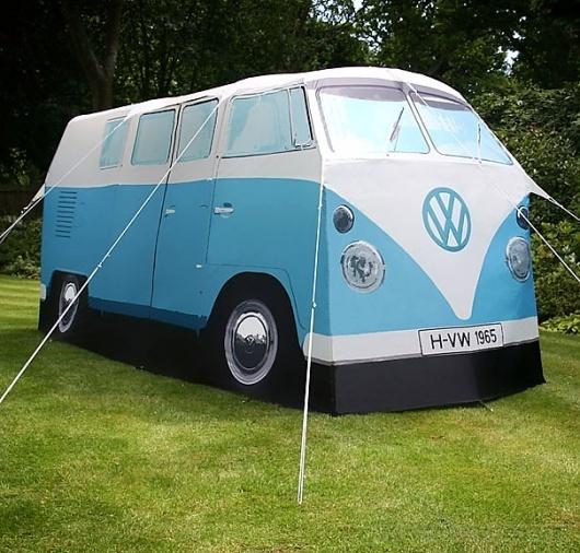 VW Camper Van Tent   Bored Panda #volkswagen #of #camping #equipment #hippie #summer #tent #love