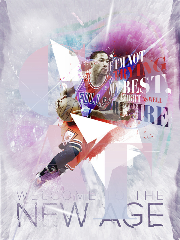 G.O.A.T / Welcome to the New Age #chicago #quote #rose #digital #bulls #art #derrick #typography
