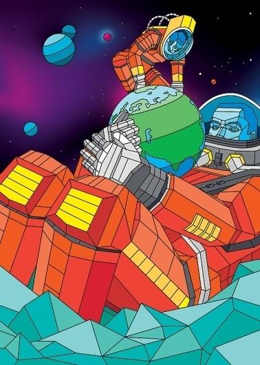 Digital Art by Aske   Daily Inspiration #spectrum #fi #illustration #sci