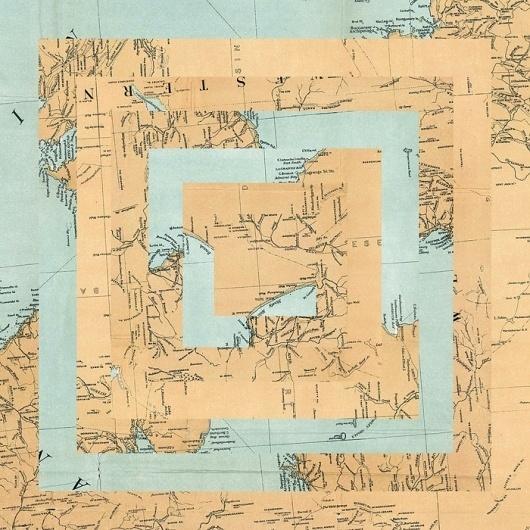 maps : LUIS DOURADO #print #collage #art