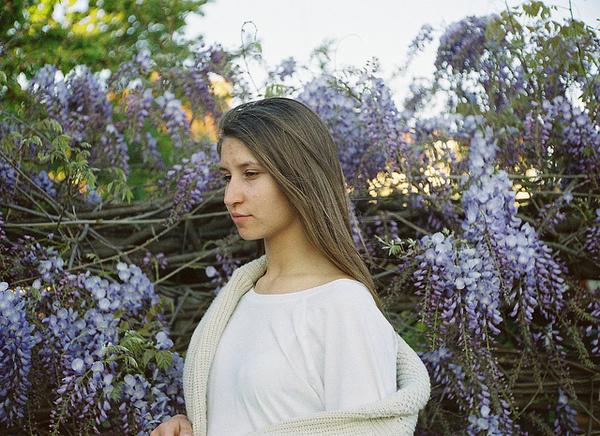 Floral #violet #blonde #floral