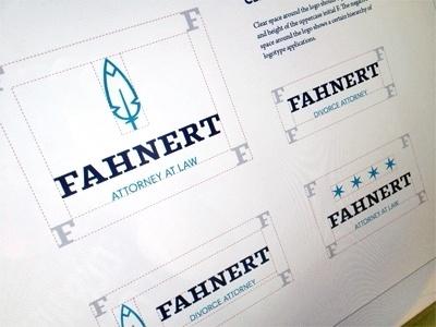 Dribbble - Fahnert Style Guide by Bill S Kenney #logo #feather #branding