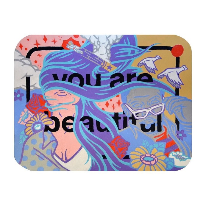 #yabsticker #youarebeautiful #art #painting #illustration #jbyrnes #color