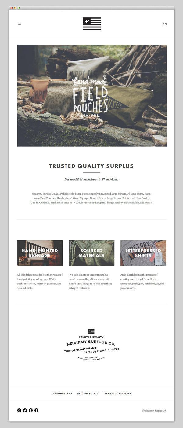 Neuarmy Surplus Co. #website #layout #design #web
