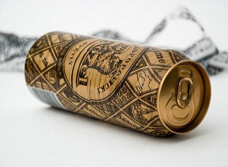 Velkopopovicky Kozel Beer Can Packaging #packaging #beer #can #label
