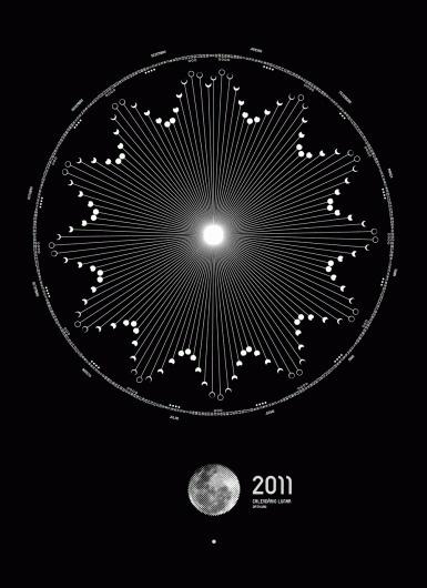 Dmtr.org 2011 / Lunar Calendar 2011 Poster #lunar #2011 #calendar #design #graphic #moon