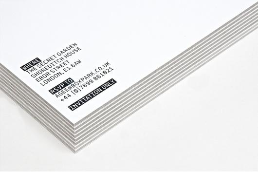 StudioMakgill - Boxpark #white #invitation #print #black #boxpark #industrial #makgill #retail #detail
