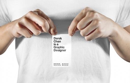 About / Derek Chan #business #card #letterpress #helvetica #typography