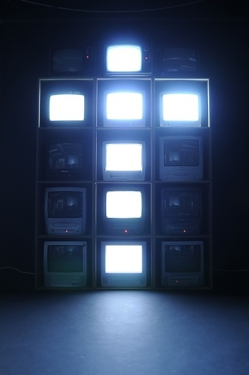 Bitmap Television Alphabet | Colossal #television #photography #design #typography