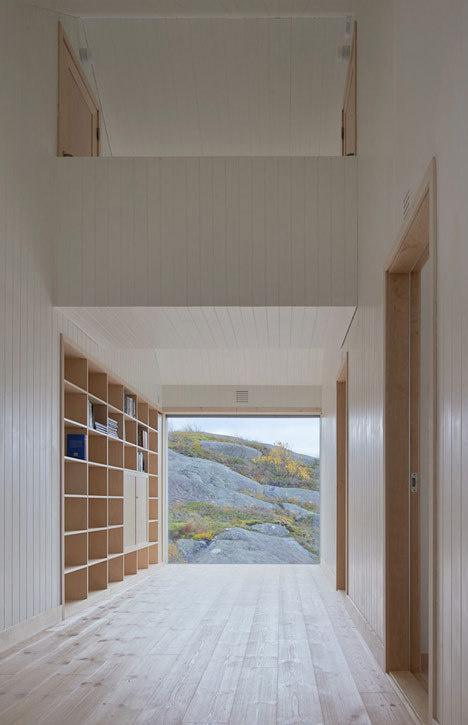 Vega Cottage by Kolman Boye Architects references weathered Norwegian boathouses #interior #design #architecture #house