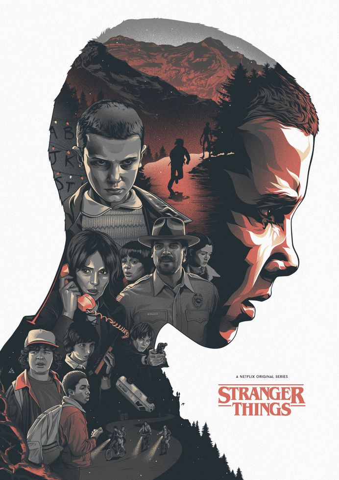 Stranger Things poster by Amien Juugo