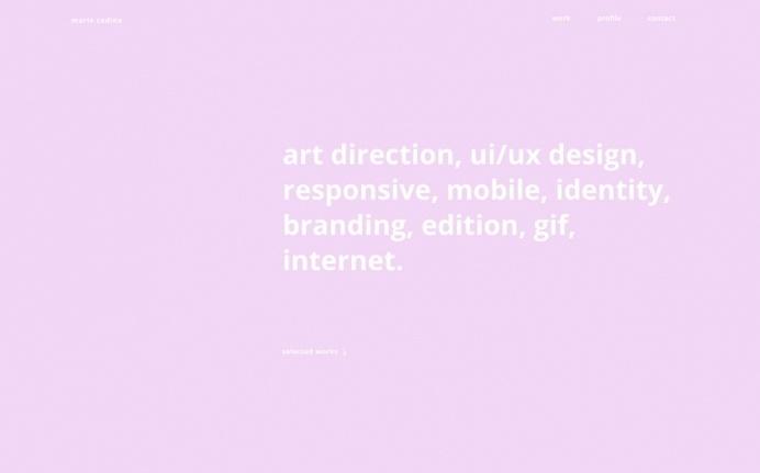 Marie Codina webdesign site of the day beautiful minimal portfolio mindsparkle mag inspiration designblog