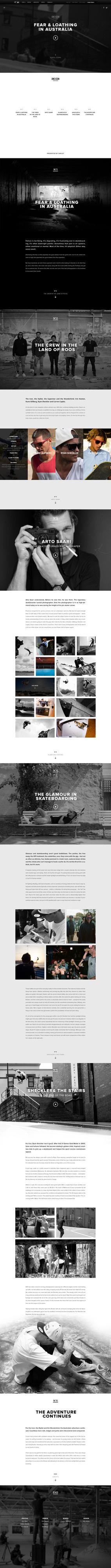 Oakley Features - Fear & Loathing in Australia #responsive #article #oakley #minimal #layout #web #typography