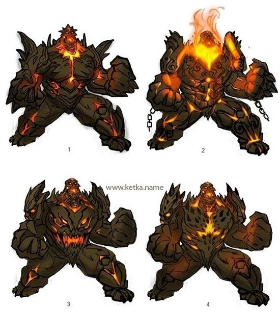 Golem Destroer #fantasy #design #illustration #concept #magic #monster #character