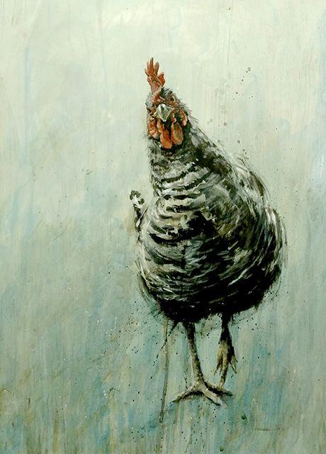 Matt Duquette #chickens #art