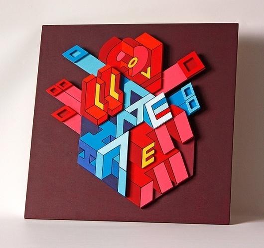 Plywood artworx @ ShockBlast #retro #futuristic #modelling #plywood #colour #typography