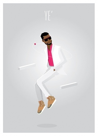 'Ye on the Behance Network #kanye #illustration #vector #minimal