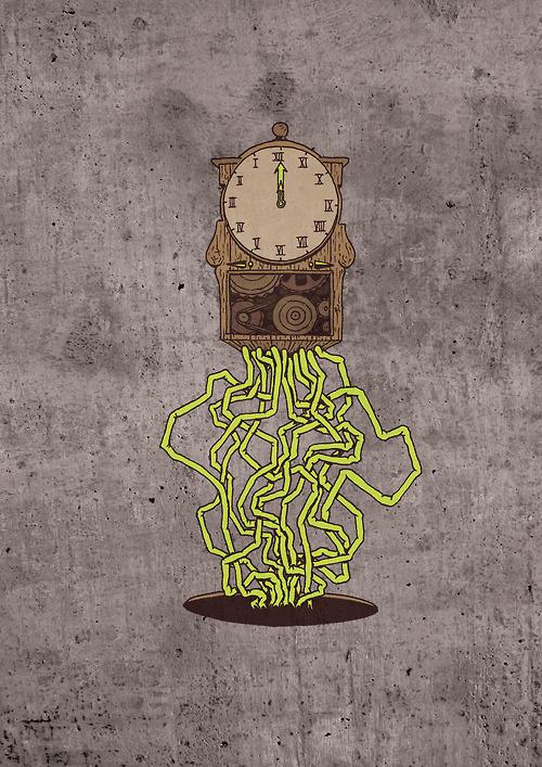 Horloge #mecanic #drawing #digital #illustration #clock #organic #sketch