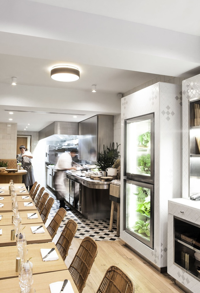 Fashion's Favorite Restaurant in Paris: Clover on the Left Bank - Remodelista