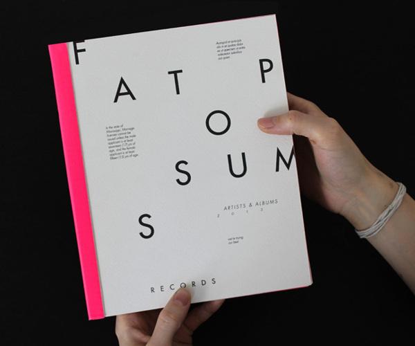 Fat Possum Artist Booklet #fat #pink #fluorescent #possum #book #label #typeface #music #scan #scribble #neon