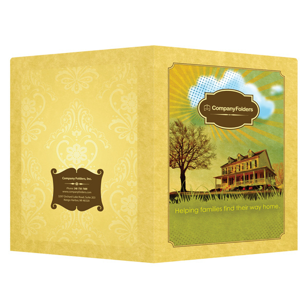 Sunny Home Presentation Folder Template #template #design #presentation #folder