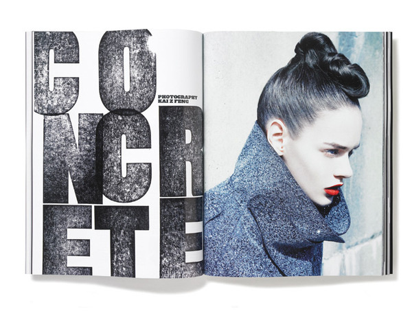 Plastique_Issue2_Spread #letters #print #spread #layout #magazine #typography