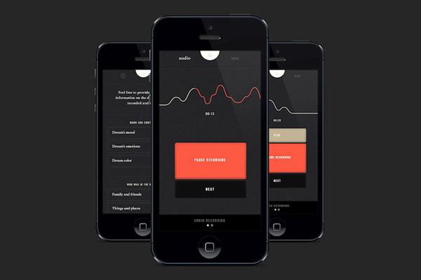 Image of SHADOW Alarm Clock and Dream Recording App #user #design #interface #sleep #clean #app #dark
