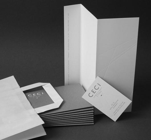 DEUTSCHE & JAPANER - Creative Studio - ceci #emboss #white #black #identity #logo #wax #grey