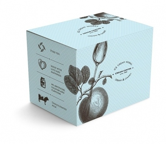 Cream Centre #packaging #botanical #cosmetics