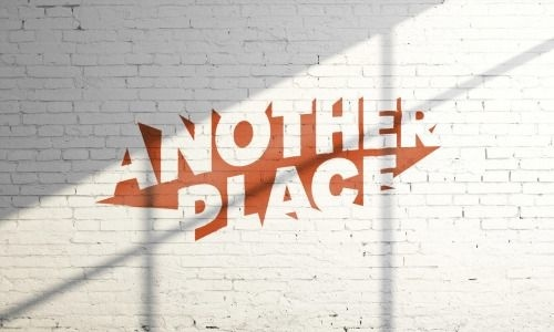 "I like how the logo is just a group of shapes that when put together the negative space forms together to look like the words ""Another Place"