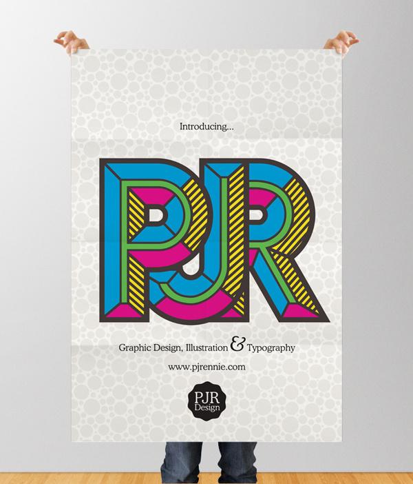 PJR Design Promo Poster Design by Phil Rennie #design #typographic #poster #idler #typography