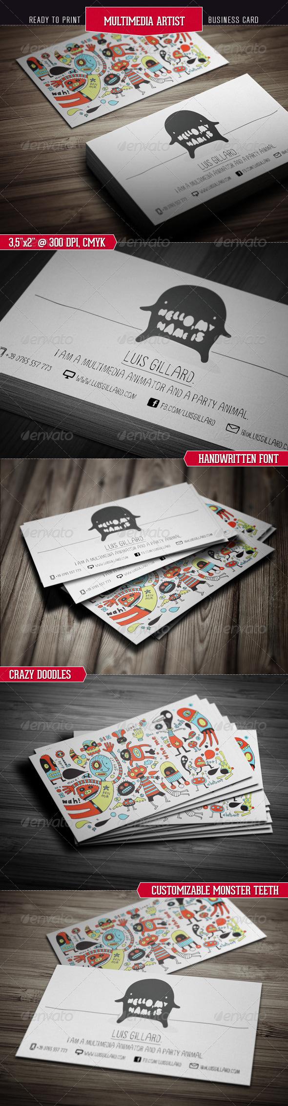 ThemeFlava #business #multimedia #card #print #illustration #artist