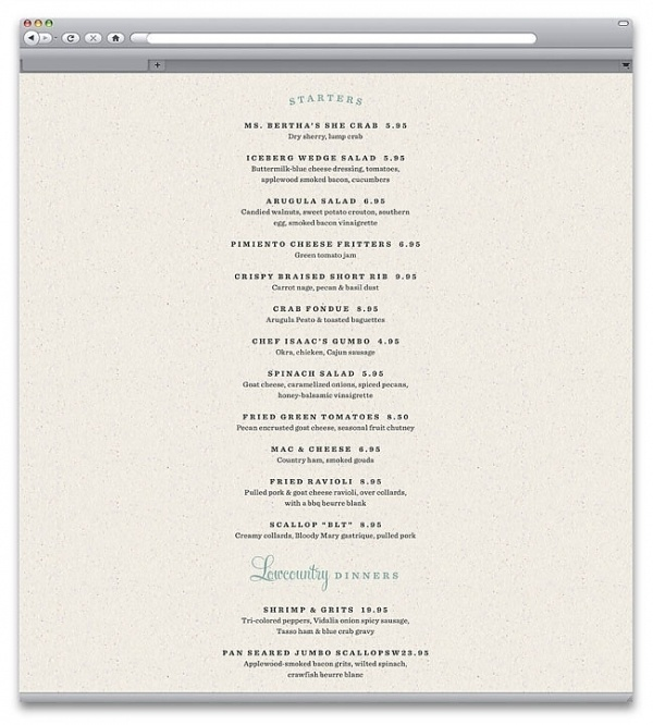 Poogan's Porch   Identity Designed #menu #web #restaurant #typography
