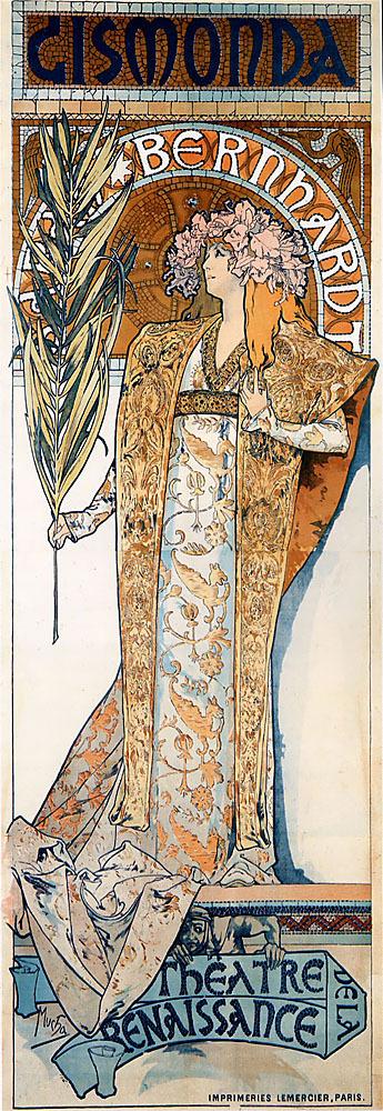 Alphonse Maria Mucha #mucha #nouveau #art #poster #gismonda