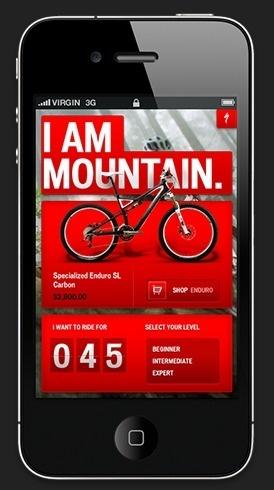 Specialized bikes iphone app design #iphone #app #web