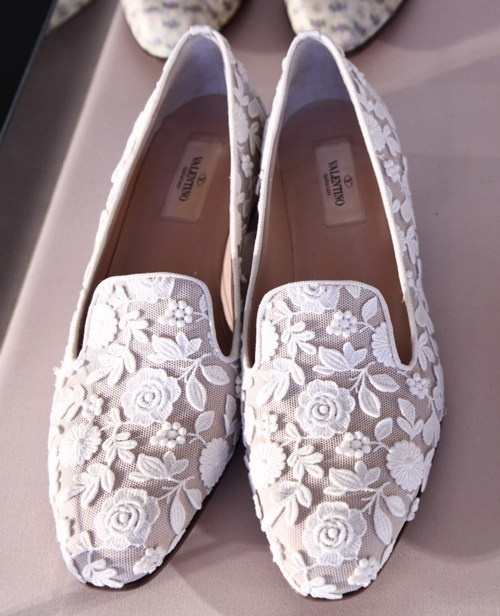 Pinned Image #valentino #lace #white #shoes