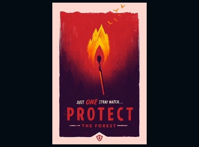 Campo Santo :: Experience • Protect • Defend #match #design #protect #illustration #fire #poster #art #forest #inferno