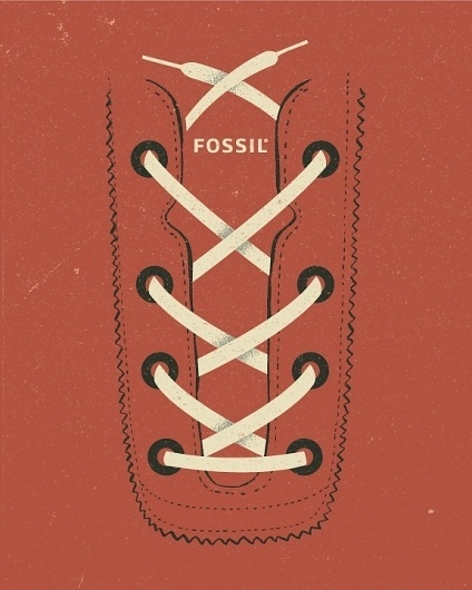 All sizes | Fossil footwear poster | Flickr - Photo Sharing! #red #print #design #retro #shoe #vintage