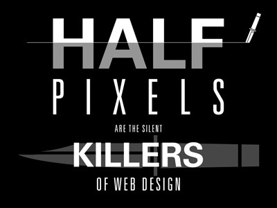 Dribbble - Half Pixels by Stephen Moorehead #white #black #poster #knife #pixels #killer
