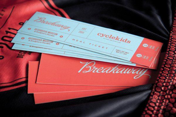 Breakaway #print #lettering #script #ticket #collateral