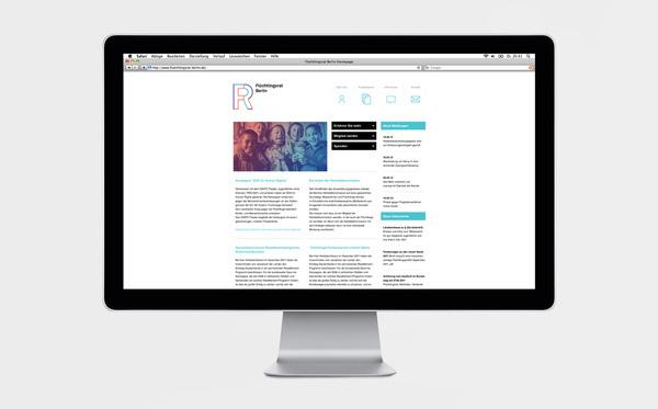 Screendesign der Flüchtlingsrat Webseite #logo #design #graphic #identity