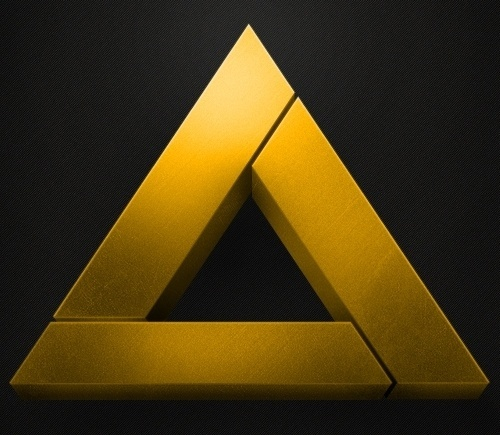 Dribbble - Triangle_Unlocker_Dribbble_Big.jpg by Jesse Penico #adventure #jesse #triangle #gold #zelda